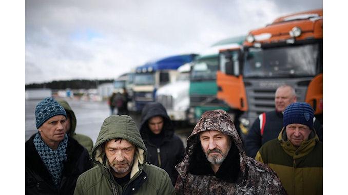 grève des conducteurs des poids-lourds russes