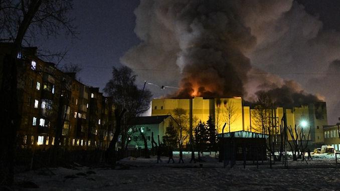 Incendie mortel dans un centre commercial à Kemerovo en Russie @lefilfrancoruss