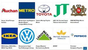 Le classement des cinquante plus grandes entreprises occidentales installées en Russie